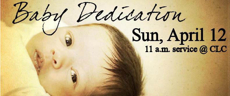 Baby Dedication 4.12.15
